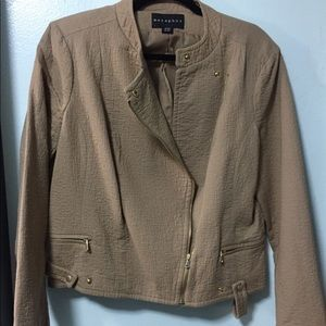 Metaphor moto jacket in camel Sz XL